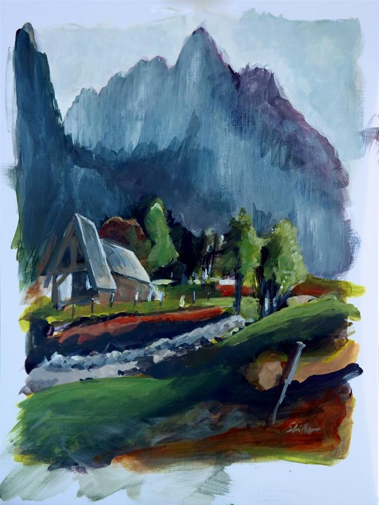 """1851 Fish Creek Alp"" original fine art by Dietmar Stiller"