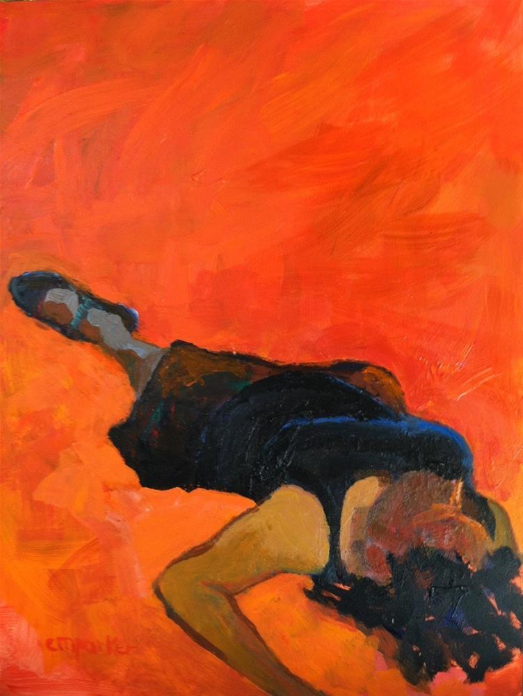 """""""Model alla prima 10/1/13"""" original fine art by Christine Parker"""