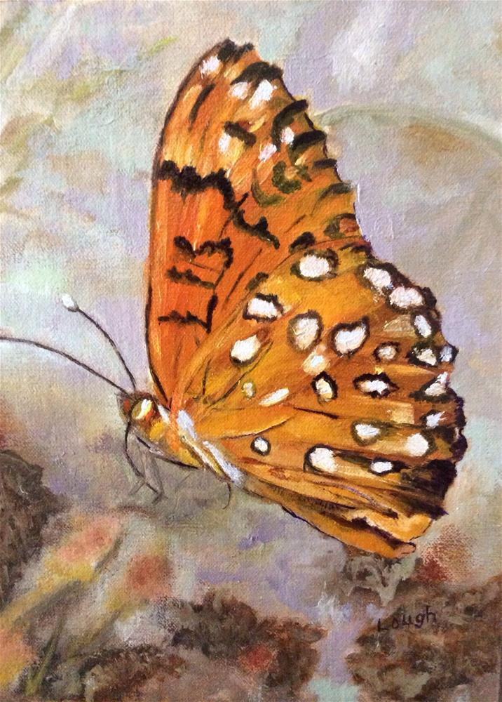 """Fritillary Butterfly"" original fine art by Charlotte Lough"
