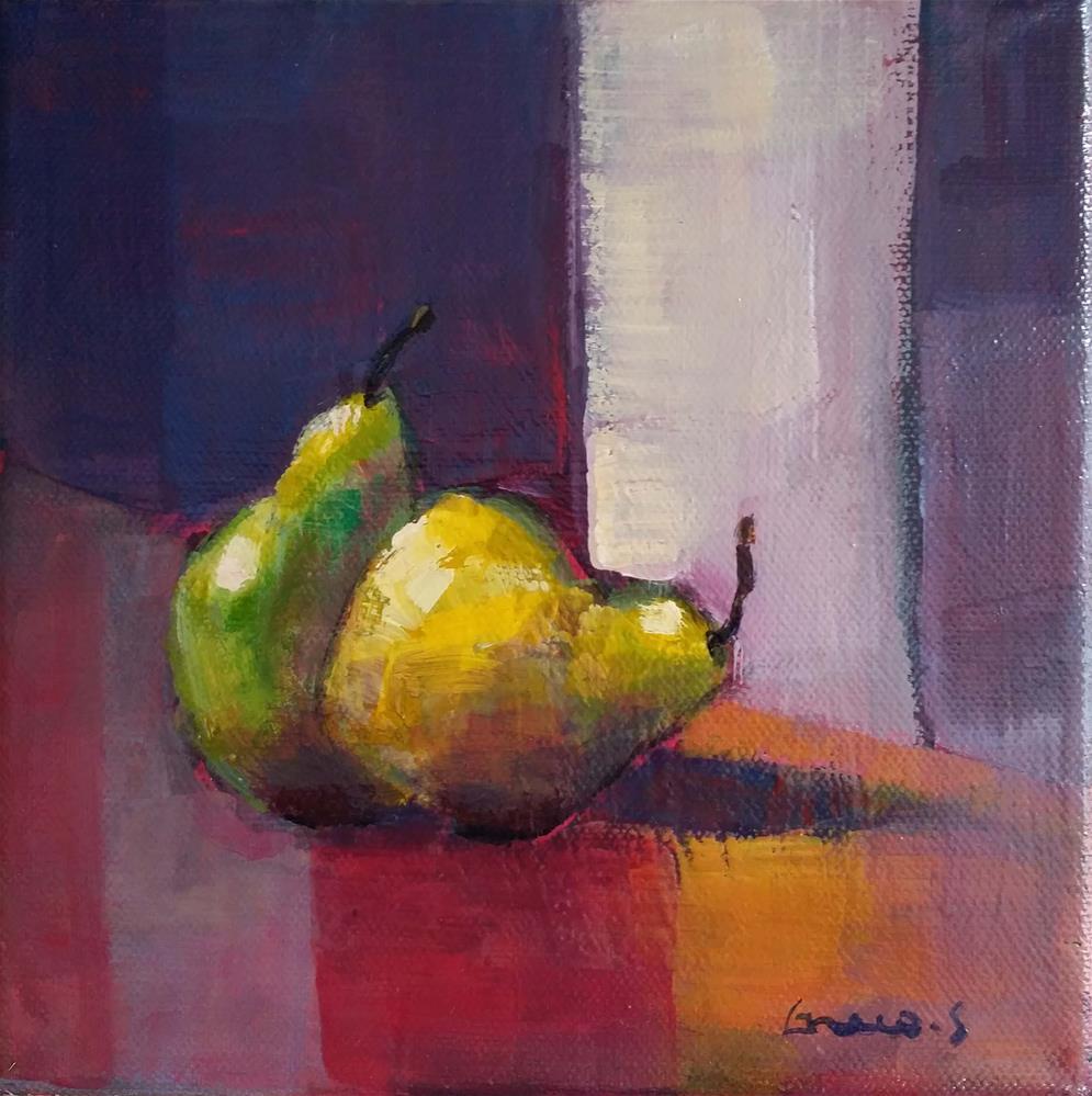 """""""pear #1"""" original fine art by salvatore greco"""