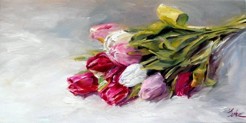 """Les tulipes"" original fine art by Evelyne Heimburger Evhe"
