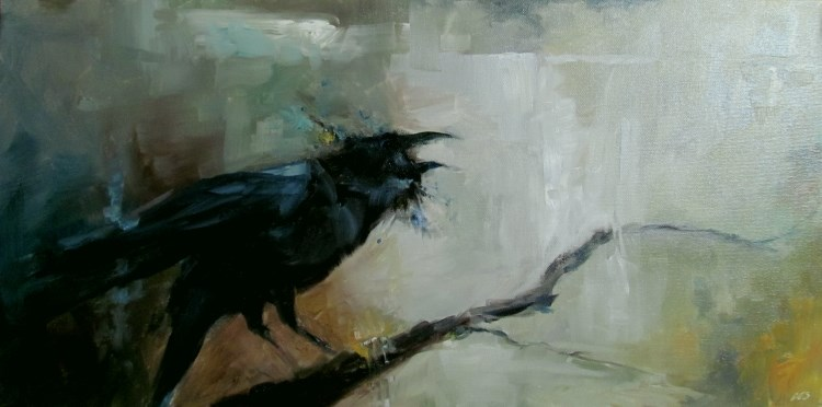 """Scavenger's Lament"" original fine art by ~ces~ Christine E. S. Code"