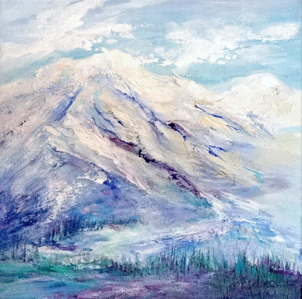 """4213 - White Mountain III - Deep Wrap"" original fine art by Sea Dean"