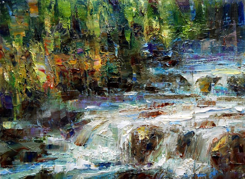 """Soda Butte Creek - Yellowstone"" original fine art by Julie Ford Oliver"