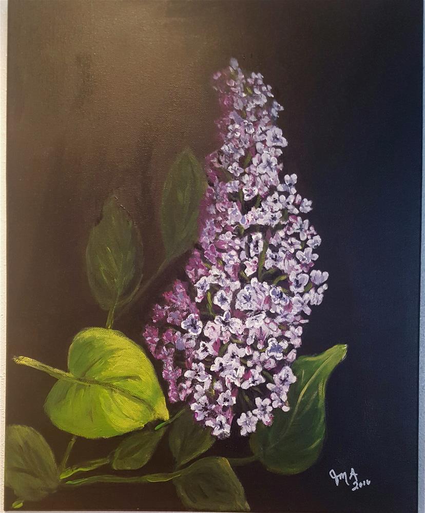 """Lilac"" original fine art by Joan Anderson"