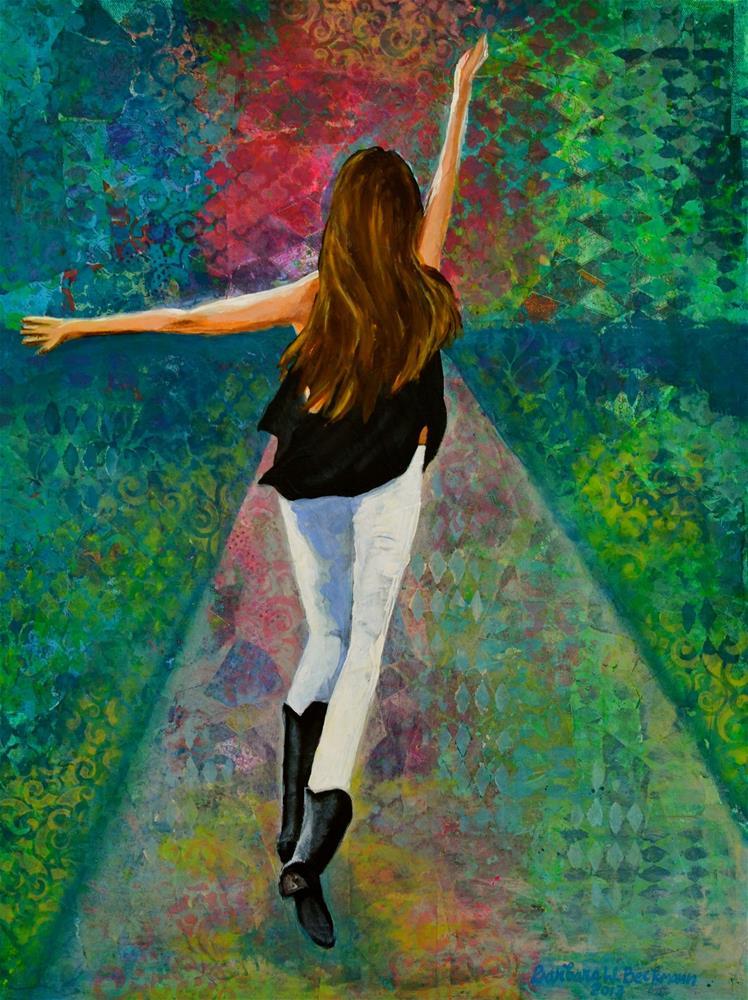 """Spirit Run"" original fine art by Barbara Beckmann"
