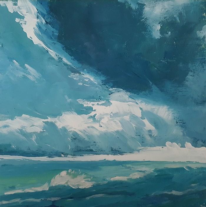 """Stormclouds at Sea"" original fine art by J M Needham"