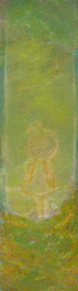 """Little Girl Bookmark"" original fine art by Alina Frent"