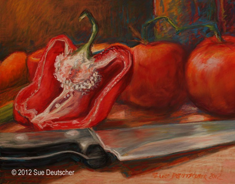 """""""Sliced"""" original fine art by Sue Deutscher"""