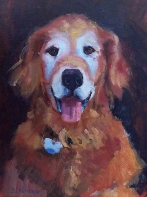 """Sam"" original fine art by Deborah Newman"