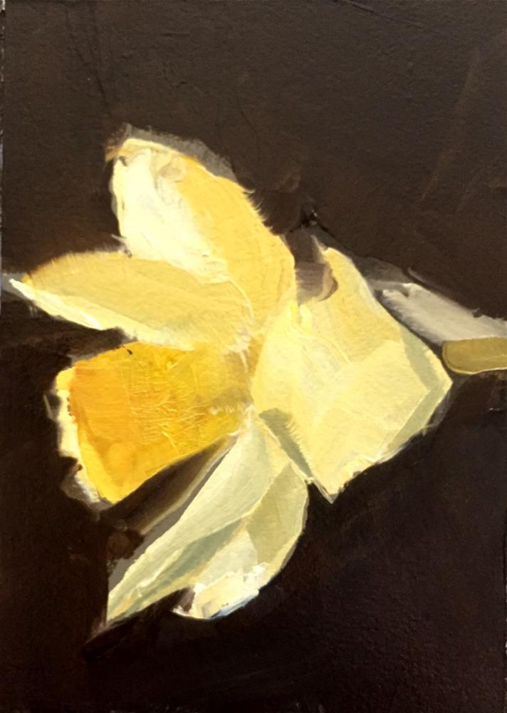 """""""Daffodil I"""" original fine art by Gary Bruton"""