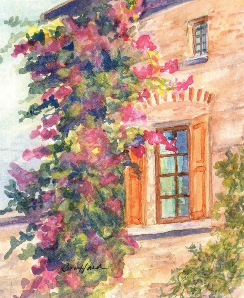 """Window in Tuscany"" original fine art by Vikki Bouffard"