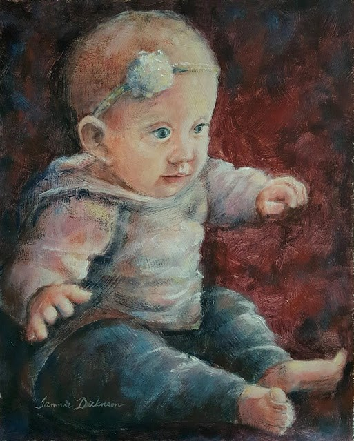 """Little Mackinleigh"" original fine art by Tammie Dickerson"