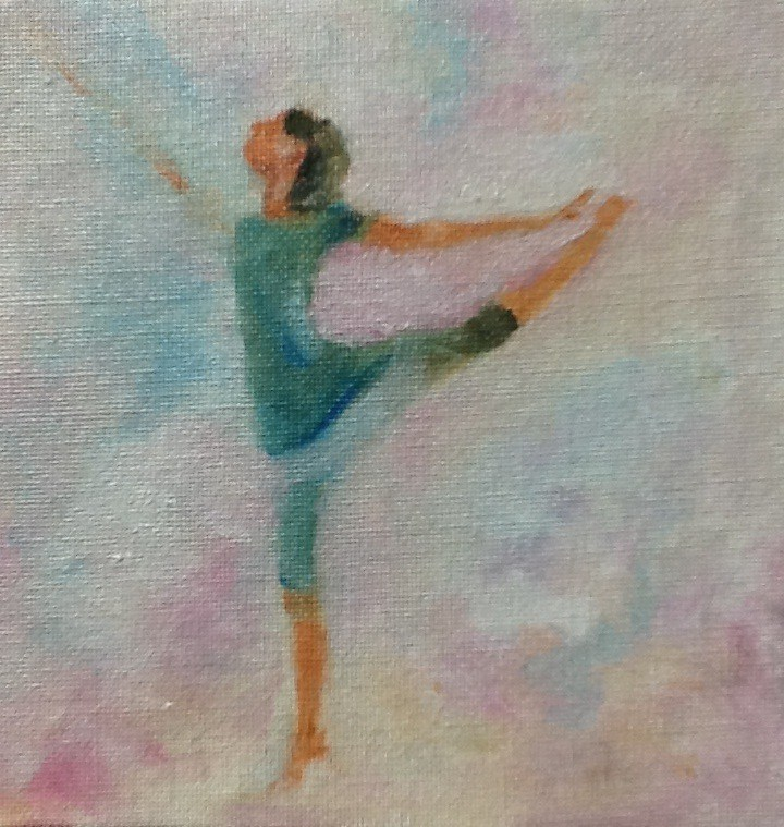 """""""Dancing in the Clouds"""" original fine art by Peggy Schumm"""