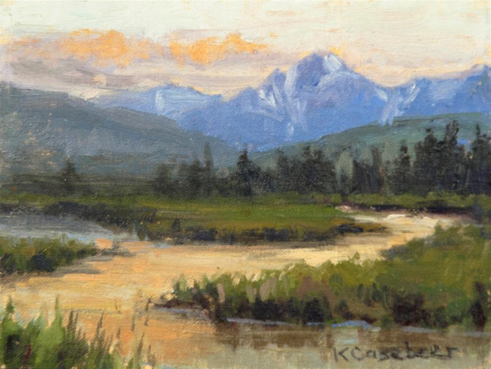 """Savage River Alaska"" original fine art by Kim Casebeer"