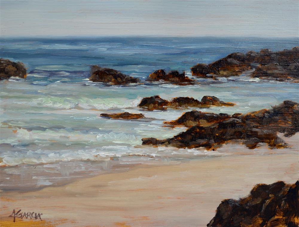 """Kua Surf"" original fine art by Jeannie Garcia"