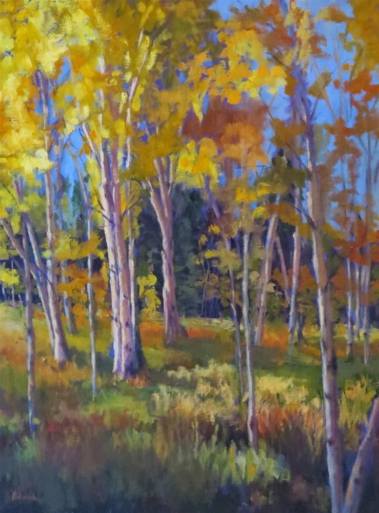 """Afternoon Aspen"" original fine art by Pam Holnback"