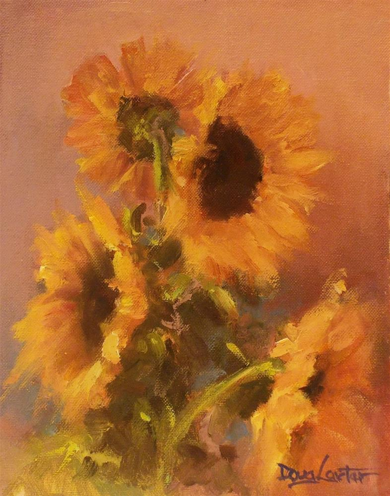 """ Flower of the Sun "" original fine art by Doug Carter"