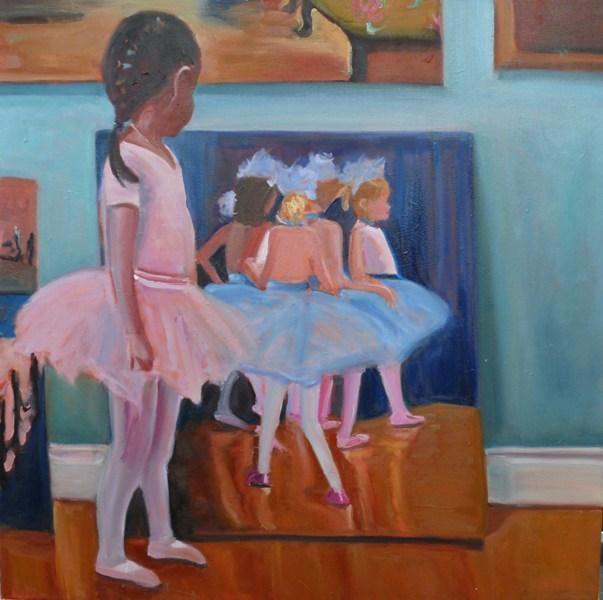 """651 Little Ballerina"" original fine art by Darlene Young"