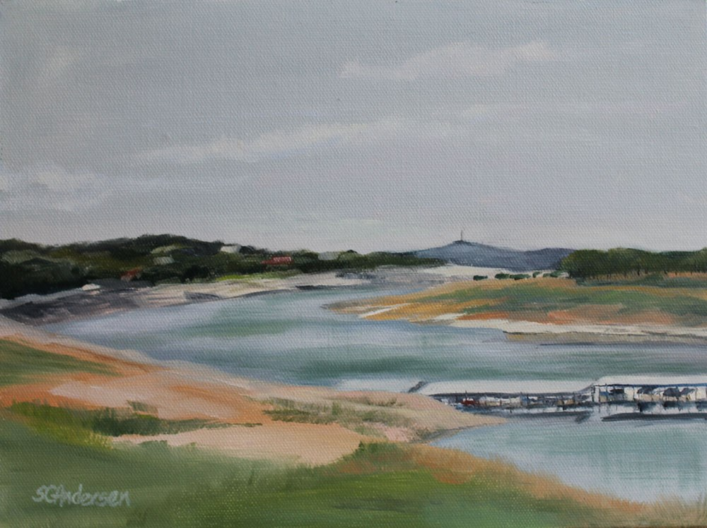 """Low water"" original fine art by Susan Andersen"