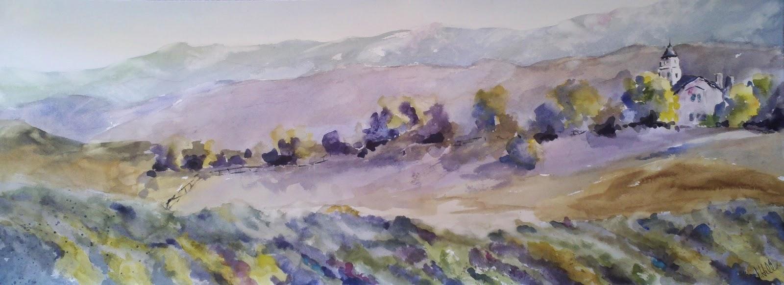 """Leoness Vineyard, Temecula"" original fine art by Julie Hill"