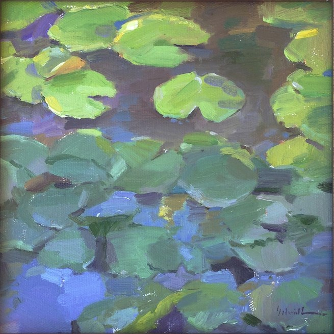 """Water Lilies A One Dollar Auction!"" original fine art by Sarah Sedwick"