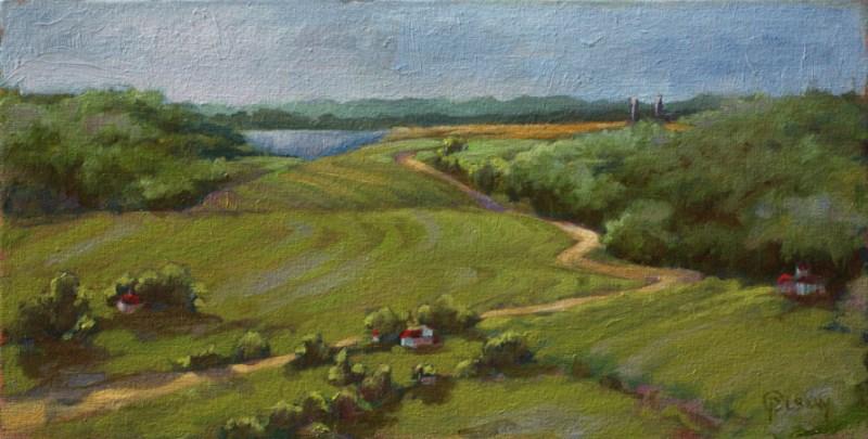 """""""to Lake Michigan"""" original fine art by Priscilla Olson"""