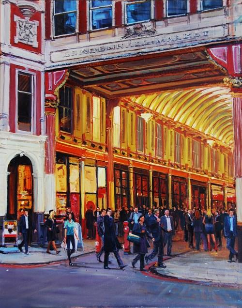 """Eevninglight Leadenhall Market II"" original fine art by Adebanji Alade"