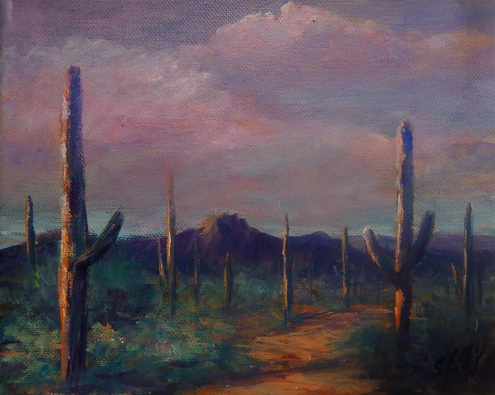 """Sonoran Glow"" original fine art by Sharon Kay Baker"