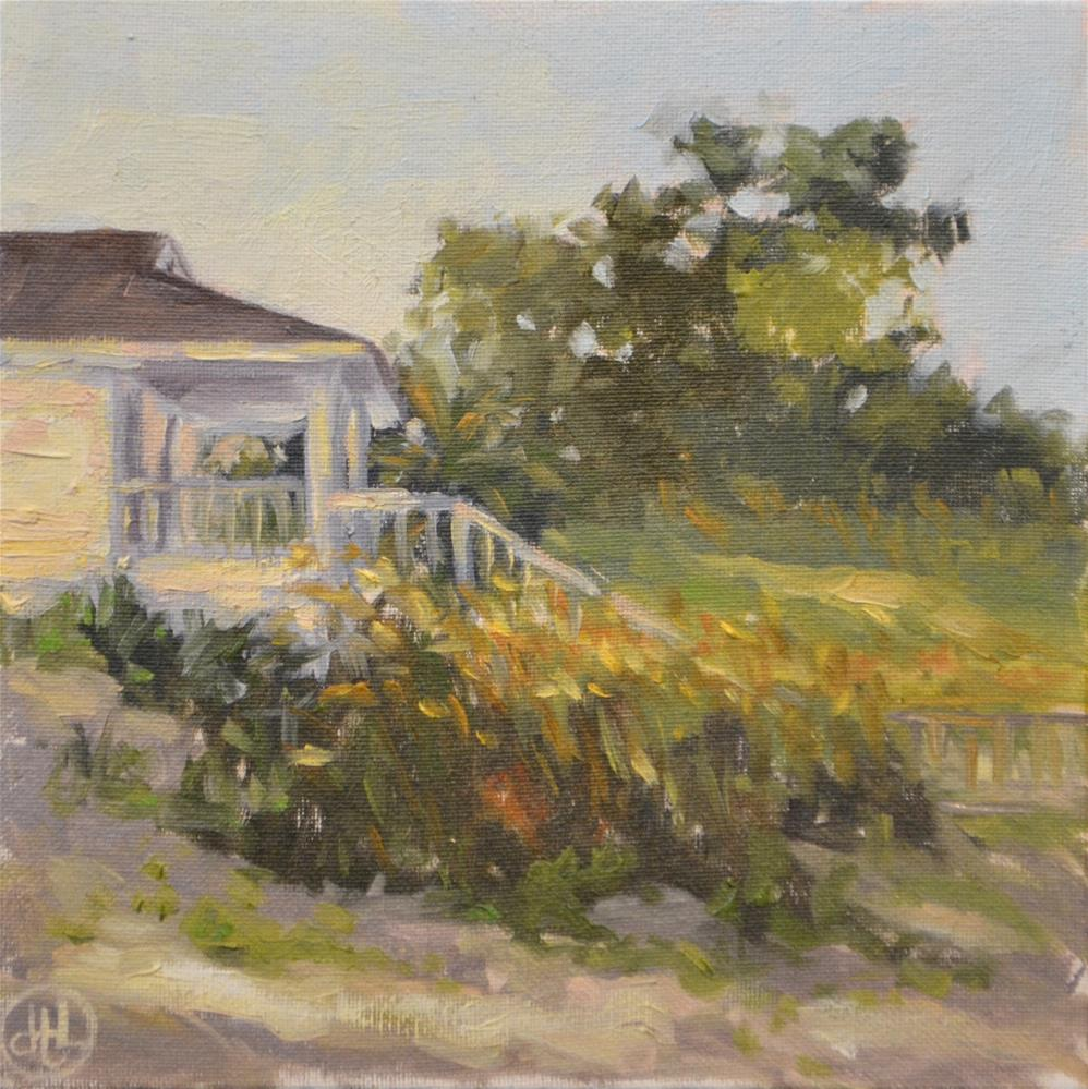 """the beach house"" original fine art by Dottie  T  Leatherwood"