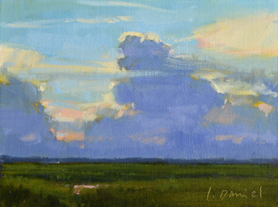 """Luminous Sky Study 2"" original fine art by Laurel Daniel"