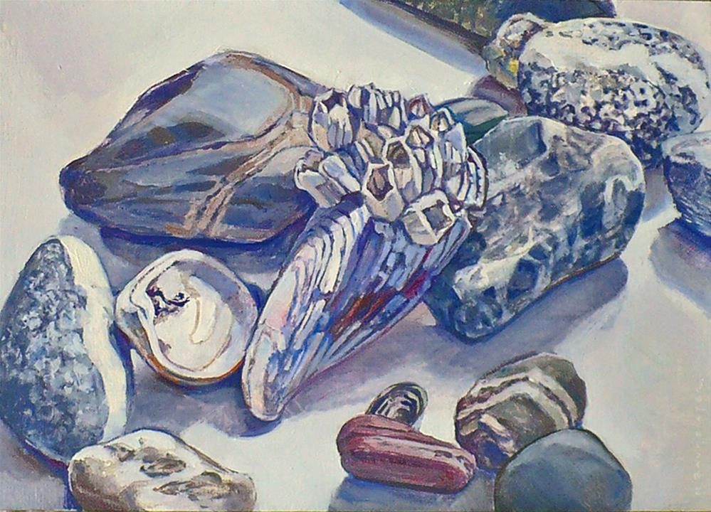 """Beaches: The Blue Mussel"" original fine art by Nicoletta Baumeister"