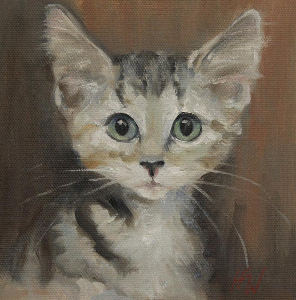"""Great Big Eyes"" original fine art by H.F. Wallen"