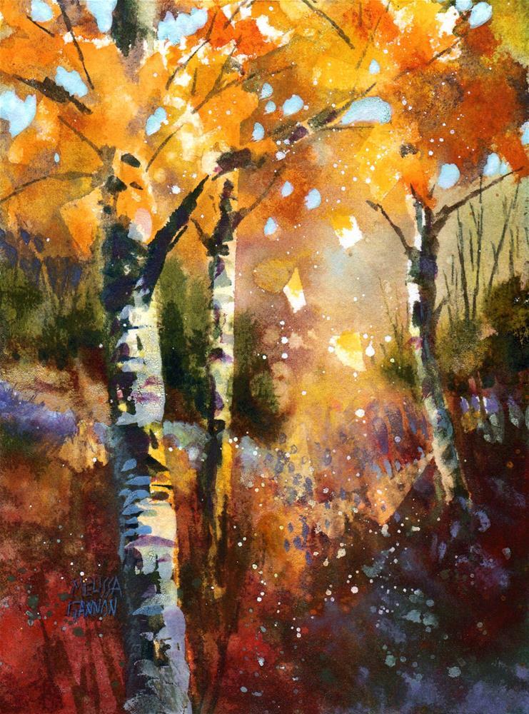 """Tree Sparkle"" original fine art by Melissa Gannon"