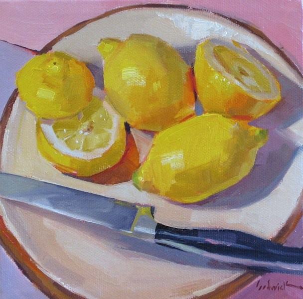 """Lemon Snack"" original fine art by Sarah Sedwick"
