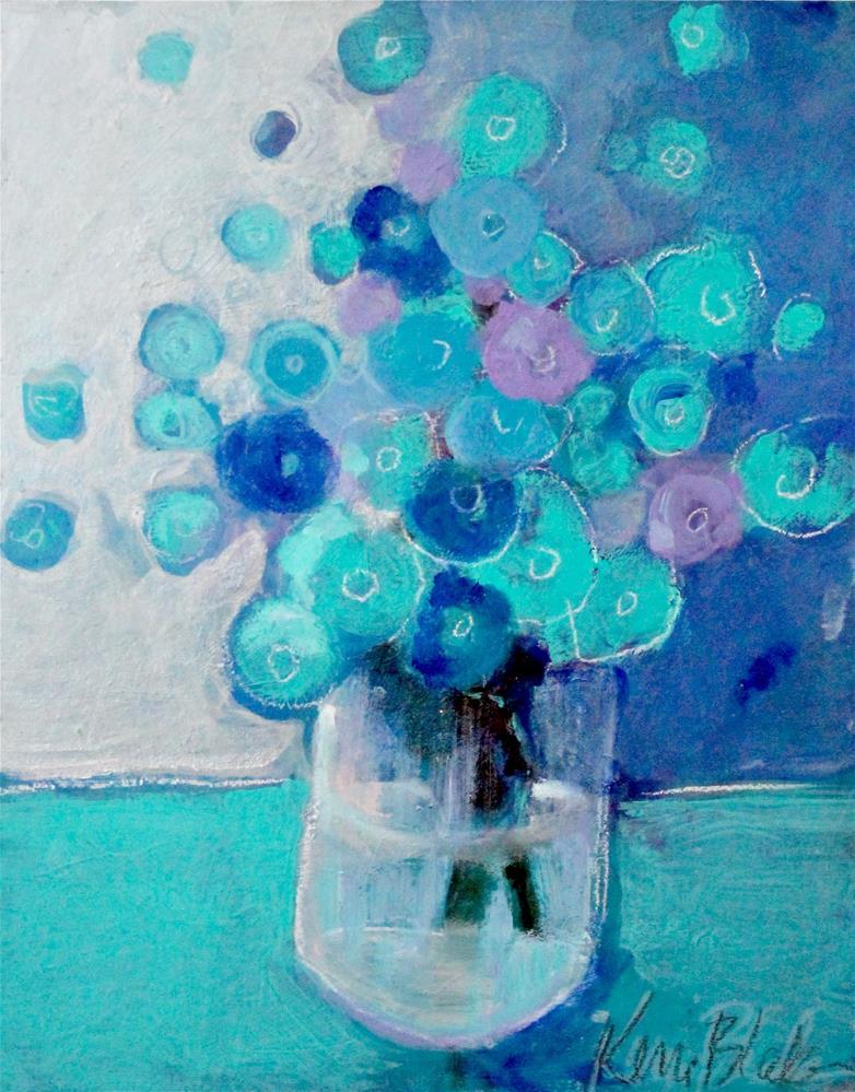 """""""Bouquet in Blue """" original fine art by Kerri Blackman"""