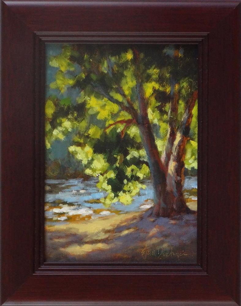 """Riverside Light"" original fine art by Erin Dertner"