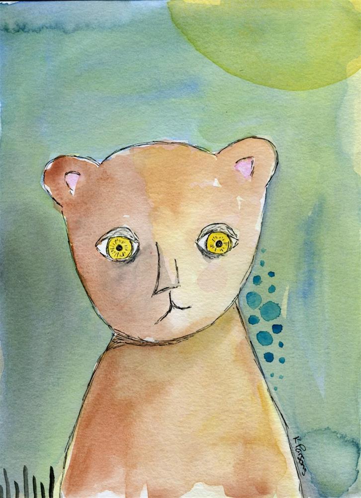 """Teddy Bear"" original fine art by Kali Parsons"