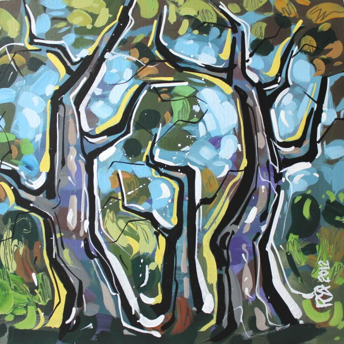 """Tree abstraction 35"" original fine art by Roger Akesson"