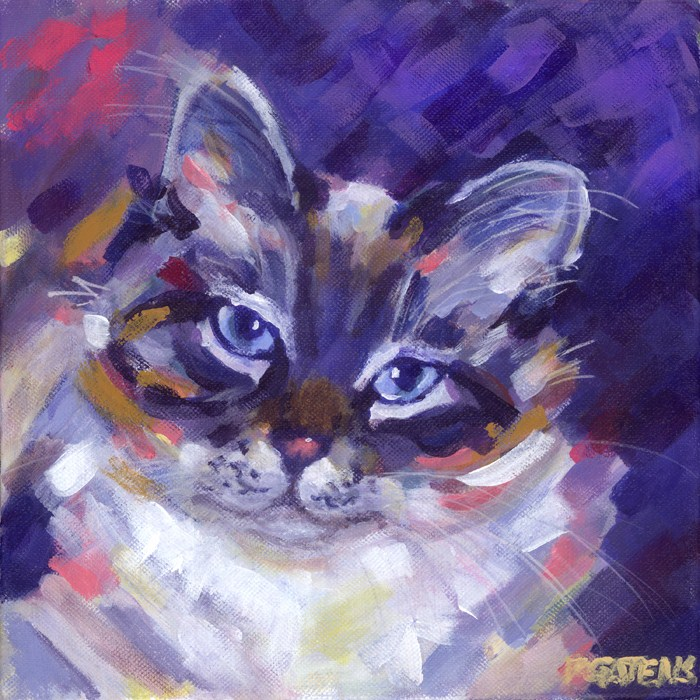 """Siamese Smile"" original fine art by Pamela Gatens"
