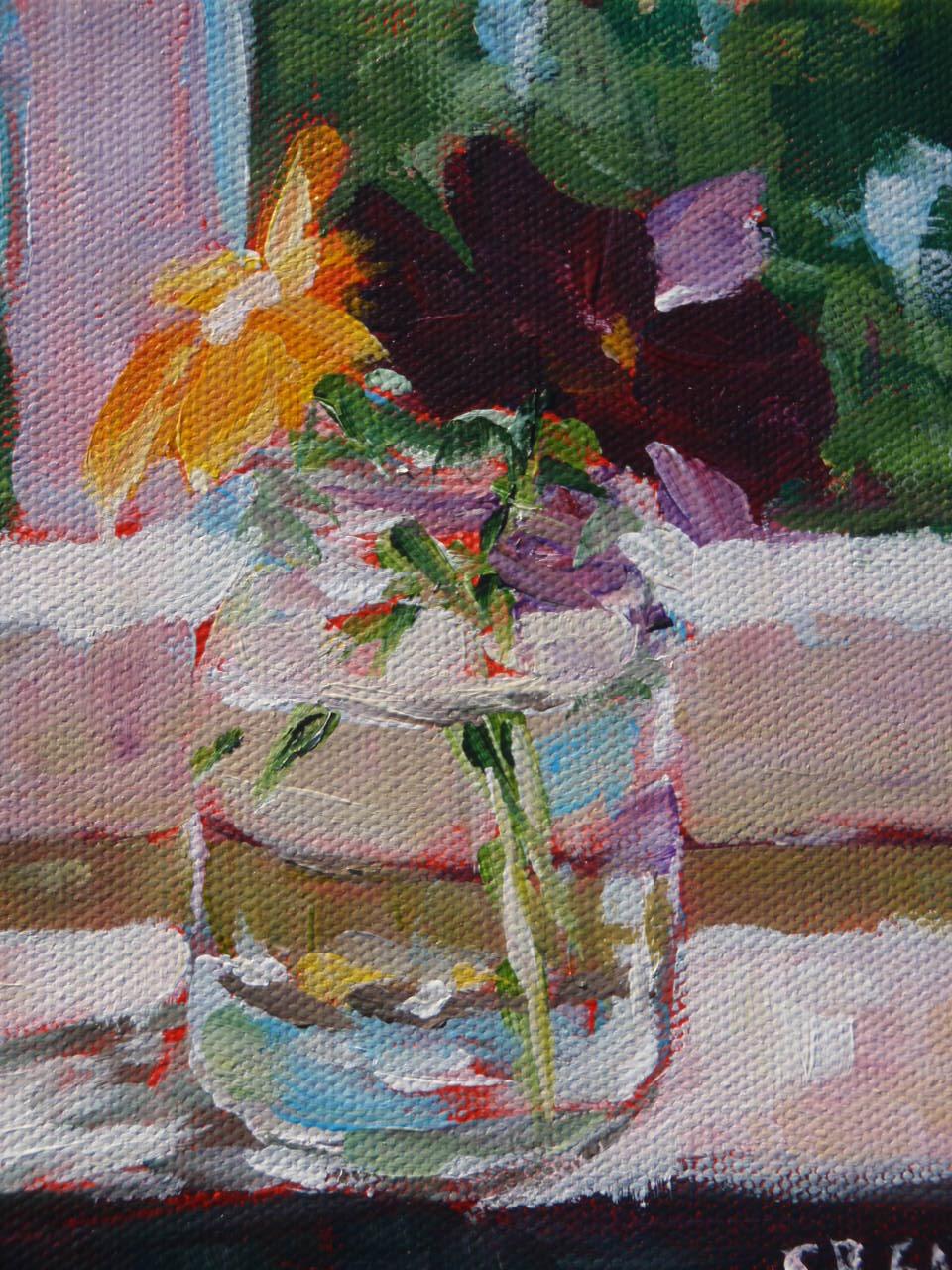 """""""pansies"""" original fine art by Shelley Garries"""