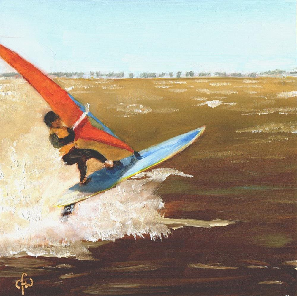 """Sail Board"" original fine art by Gary Westlake"