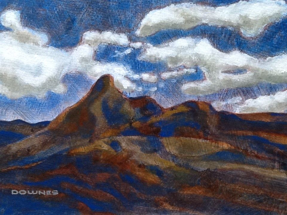 """051 MOUNT WARNING 11"" original fine art by Trevor Downes"