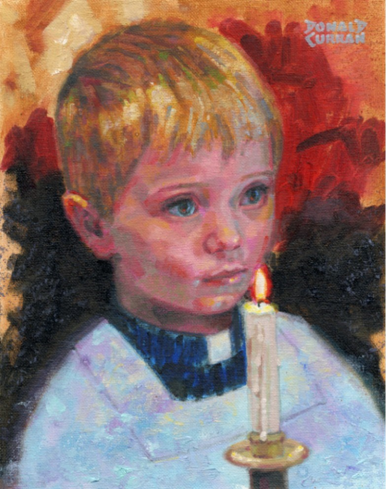 """Alter Boy"" original fine art by Donald Curran"