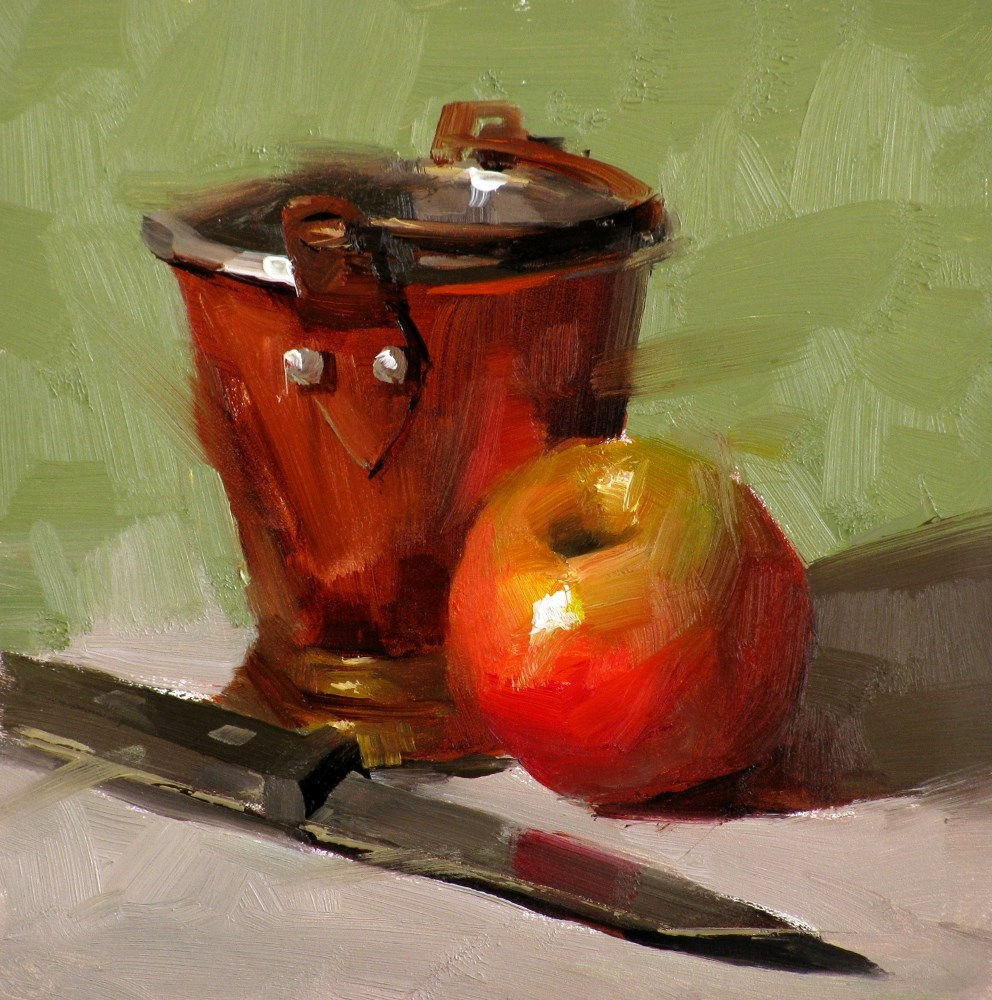 """An Apple A Day"" original fine art by Qiang Huang"