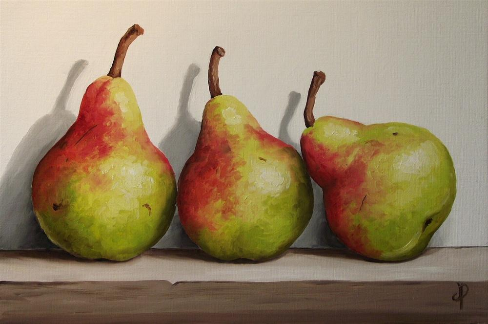 """Blush Pear trio"" original fine art by Jane Palmer"