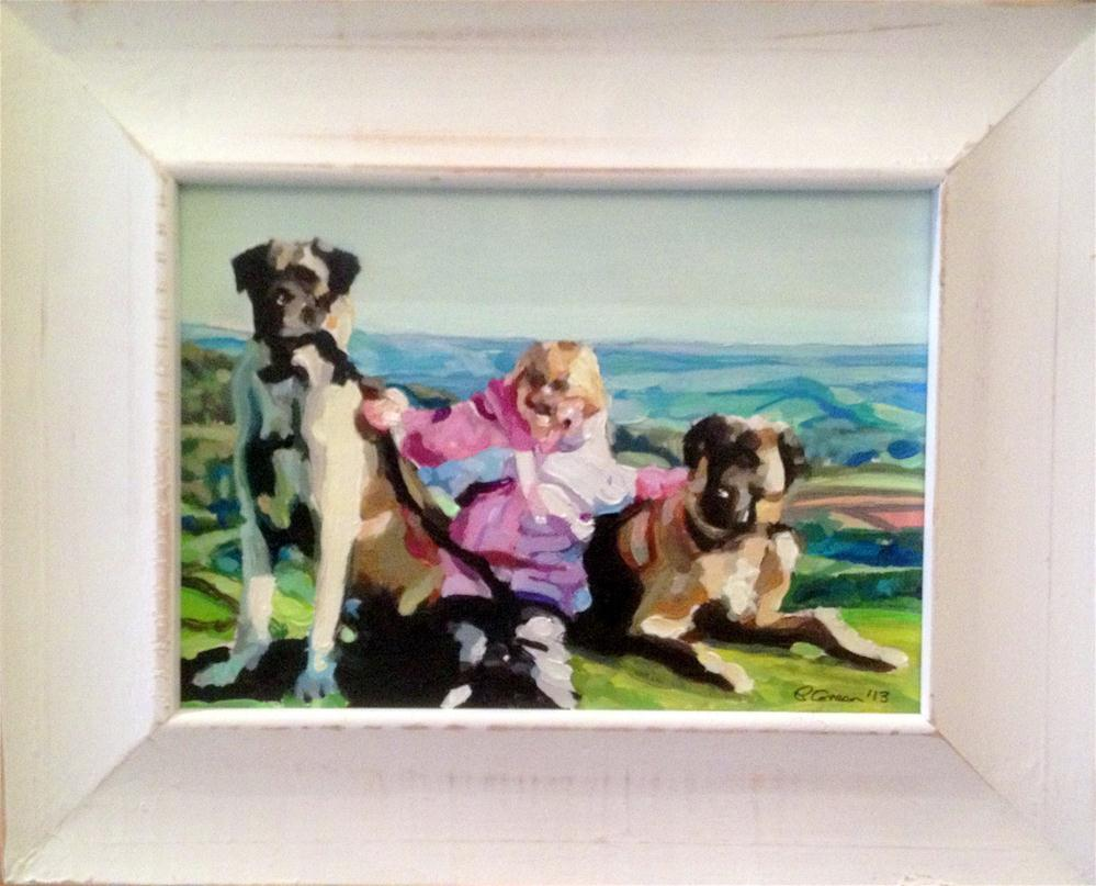 """""""For Katie"""" original fine art by Paula Howson-Green"""