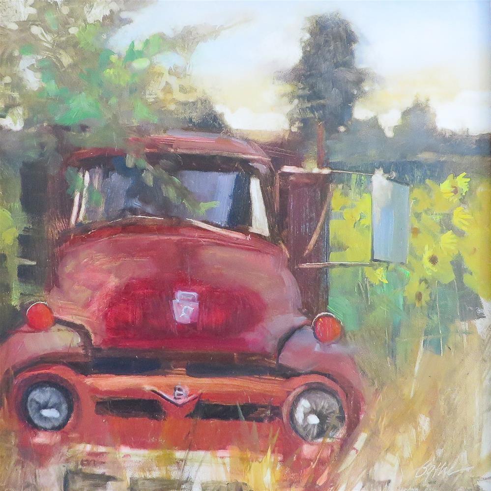 """Ford V8 '53"" original fine art by Beth Bathe"