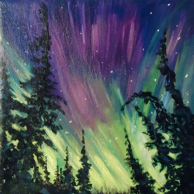 """Aurora Borealis 2014 No. 2"" original fine art by Jackie Irvine"