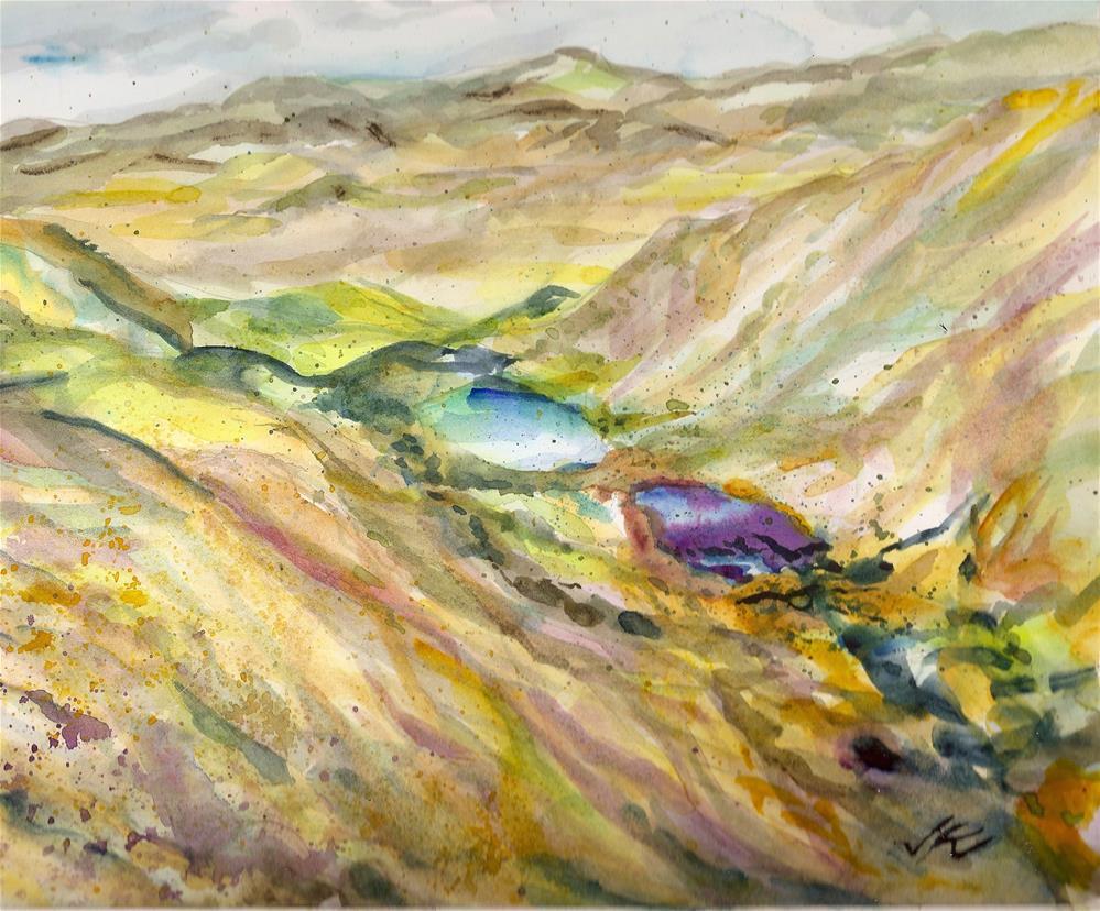 """Comanche Lakes, Colorado"" original fine art by Jean Krueger"